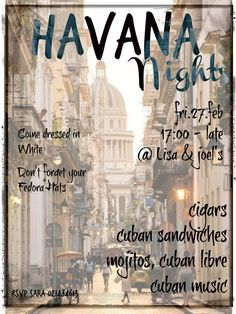 Havana Nights Party Invitation