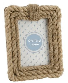 Nautical style rope photo frame, great for a quirky home, find this and other nautical accessories at www.orchardlayne.co.uk