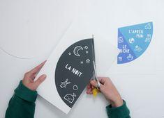 DIY : horloge 24 heures pour aider les enfants à se repérer dans le temps Kids Routine Chart, Education Positive, Myla, Baby Time, Playing Cards, Teacher, Projects, Gabriel, Alcohol Games