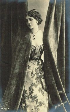 During her lifetime, Lina Cavalieri (1874-1944) was often referred to as the most beautiful woman alive. She grew up in an Italian orphanage & ran away to join a touring theatre company when she was a teenager. She became a popular opera singer & appeared in silent films. She returned to Italy late in her life, & though she was in her mid-sixties when WWII broke out, she volunteered as a nurse. She was killed during an Allied bombing while she was trying to run to an air-raid shelter.