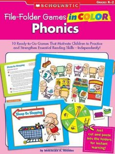 File-Folder Games in Color: Phonics: 10 Ready-to-Go Games That Motivate Children to Practice and Strengthen Essential Reading Skills—Independently! by Immacula A Rhodes, http://www.amazon.ca/dp/0439517672/ref=cm_sw_r_pi_dp_rm5Dtb0YD4Y28