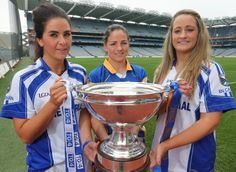 Cavan and Tipperary Captains holding the cup before the Final of the  All-Ireland Championship
