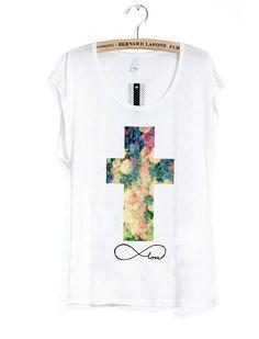 Infinite Love Rosary Cross Tee