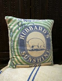 Hubbard's Feed Sack Pillow...great colors