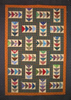 Flying Geese Wall Quilt, a free pattern from Pat Speth, a featured designer in the March/April '12 issue of Quiltmaker