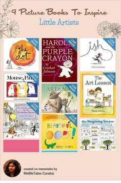 Art is as much about inspiration as it is about training. These are extraordinary books that teach kids not to worry about the outcome, but focus on having fun. Preschool Books, Kindergarten Art, Childrens Book Shelves, Childrens Books, Art Books For Kids, Art Curriculum, Reading Rainbow, Kids Reading, Art Classroom