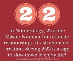 Numerology: Numbers 22 + 222 Meaning | #numerology