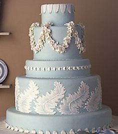 Wedgwood Jasperware cake. Love the floral garland. I'm already married, but maybe for an anniversary?!