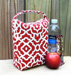 Lunch Bag Pattern Lunch ToteSewing Pattern Bag Patterns Reusable Lunch Bags, Lunch Tote, Insulated Bags, Funky Outfits, Pocket Pattern, Bag Patterns To Sew, Cold Meals, Print And Cut, You Bag