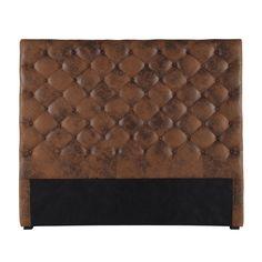 Button headboard in brown CHESTERFIELD | Maisons du Monde