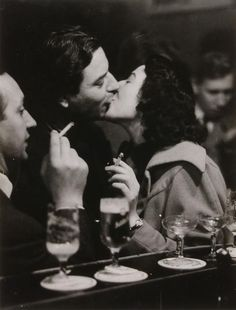 Chargesheimer, At the Bar/Kissing Couple, Cologne, c. 1956