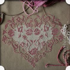 Stitching Hearts - Cross-stitch downloads with a French twist