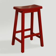 A classic stool at an affordable price, our Red Schoolhouse Barstool was created for versatility. The clean lines and sturdy construction include a seat curved for comfort and rails to rest your feet on.