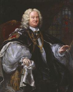 William Hogarth Benjamin Hoadly, Bishop of Winchester 1741 - oil on canvas - Tate Thomas Gainsborough, Bishop Mitre, Mr Collins, Order Of The Garter, William Hogarth, Tate Britain, Tate Gallery, Baroque Art, Portraits