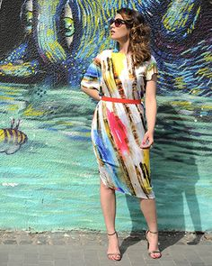 The colors of a beautiful city by Colors of Love - Colors Newsflash Dress City Vibe, Love Affair, Tea Length, Beautiful Day, Going Out, Kimono Top, Cover Up, Fashion Looks, Street Style