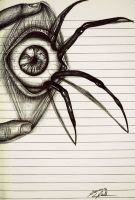 Arachnophobia by Mixielion on DeviantArt Scary Drawings, Dark Art Drawings, Pencil Art Drawings, Art Drawings Sketches, Eyeball Drawing, Anime Mouth Drawing, Arte Emo, Drawings Pinterest, Creepy Eyes