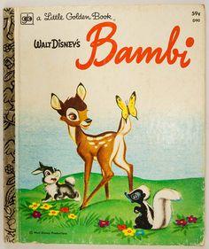Bambi  Vintage 1977 A Little Golden Book  Collectible
