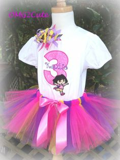 Dora the Explorer....Addison's favorite....would be so cute for her 2nd birthday!!!