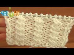 Узор спицами коса из двух перекрещенных петель Урок 11 Вязание - YouTube
