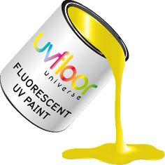 Peinture fluo UV glycero  250 ml UV Jaune