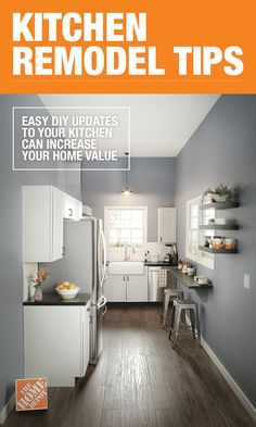 DIY kitchen renovations are one of the best ways to add value to your first home. Try repainting your cabinets and switching out hardware and light fixtures for a more modern look that's cost effective.  Click through to learn more.