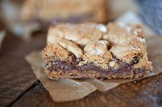 Nutella Cookie Bars: