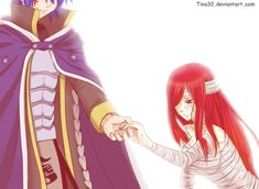 Jellal and erza Read Fairy Tail, Fairy Tail Ships, Fairy Tail Anime, Erza Y Jellal, Gruvia, Fairytail, Gajevy, Dragons, Erza Scarlett