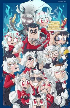 Manga, Demon Wolf, Demon Girl, Best Waifu, Monster Art, Fantasy Warrior, Digital Illustration, Game Art, Character Art