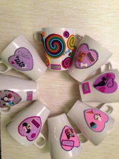 Polymer clay mugs