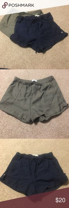 Abercrombie and Fitch Shorts The Green pair are new w tags. The navy pair is new but I took the tags off, never worn. Sadly, too big for me. :/ smoke free home! Any questions? Please ask!!! 💕💕 Abercrombie & Fitch Shorts