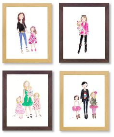 fabulous mother's day or special gift from Sophie & Lilli CUSTOM WATERCOLORS - WAIT LIST 4-5 WEEKS