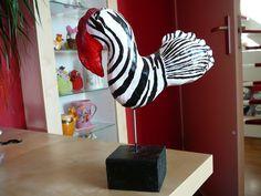Fantasievogel van klei, gemaakt door mijn dochter