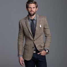 linen herringbone sportcoat in ludlow fit...Amazing.