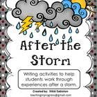 After the Storm - *Writing and discussion activities to help students express experiences and emotions following a storm.   *Includes color and black and white pages....