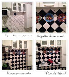Contact na parede da cozinha