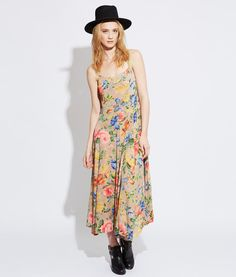 Vintage Floral 90s Dress Made In India Boho by JosieStardust