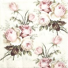 Салфетка маленькая - розы винтаж