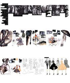 Fashion Sketchbook - fashion design, collection development & concept drawings; fashion portfolio layout // James Whitehouse