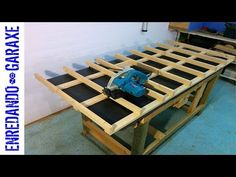How to make a circular saw cutting table - YouTube Circular Saw, Wood Resin, Woodworking Videos, Plank, Epoxy, Table, Youtube, How To Make, River