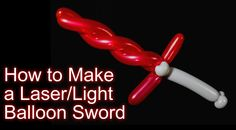 Here's a cool laser/light balloon sword that looks almost like one from a kid's…
