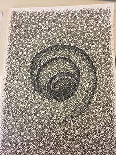 Doodle Art Drawing, Zentangle Drawings, Zentangle Patterns, Zentangles, Illusion Drawings, Illusion Art, Diy Collage, Gravure Illustration, Gravure Laser