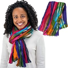 Northern Lights Cotton Scarf - On Sale $18 - Your purchases make a difference worldwide by benefiting people, animals and the planet.