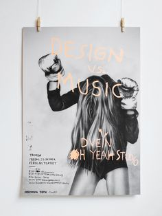 Design vs. Music poster - Oh Yeah Studio #posterdesign, #graphicdesign, #typography #Art #Artdirector #poster #Artwork #VisualGraphic #Mixer #Composition #Communication #Typographic #Work #Digital #Design #pin #repin #awesome #nice #print
