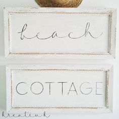 Make these beach cottage signs to give your home a summery vibe.