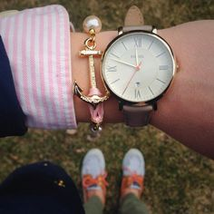 fossil watch & kjp bracelet