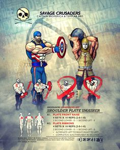 shoulder exercises: shoulders with plates