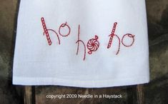 """Needle in a Haystack: IT'S CHRISTMAS IN JULY! Free Christmas Embroidery Pattern; Learn How to """"Back Stitch"""""""