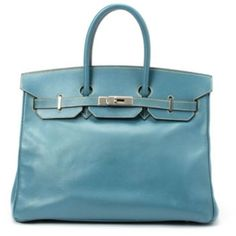 Hermes Blue Jean Birkin 35 Bag W19555 : Lot 478E