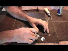 Hand- sewing with Leather Goods is painful on some fingers. Ouch! / Making Leather Haversack Part 1 - YouTube