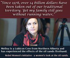 Melina has experienced the effects of oil sands firsthand and speaks out against them at our Breaking Ground delegation. Oil Sands, Tomorrow Is Another Day, Visit Canada, My Heritage, First Nations, Looking For Women, Climate Change, Other People, Politics